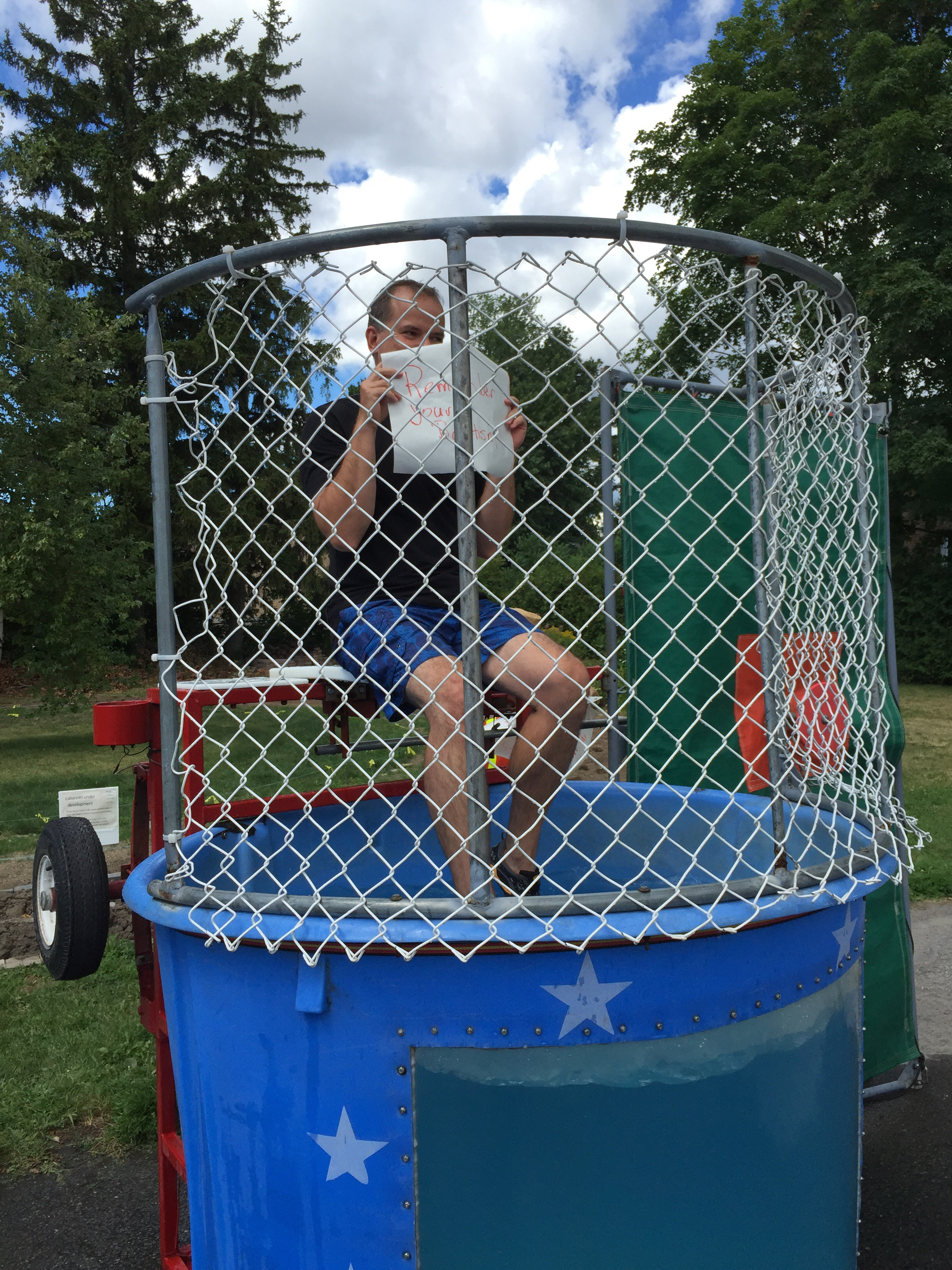 Dunking booth baptisms - Like My Experience In The Dunk Tank Last Week It S Both Thrilling And Scary To Let Go Of Control Not Knowing When The Ball Will Hit The Target And I Go